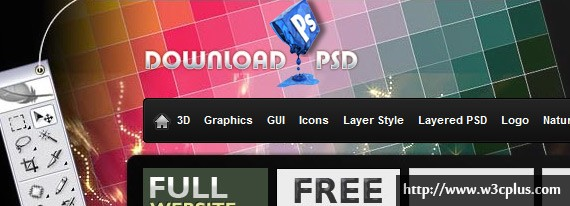 20个免费下载PSD设计网站